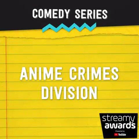 #streamys comedy series nominees: 〰️ Anime Crimes Division (@rocketjumptweet) 〰️ @EscapeTheNight 〰️ Grown (@Complex) 〰️ Liza on Demand (@lizakoshy) 〰️ @rhettandlink's Buddy System