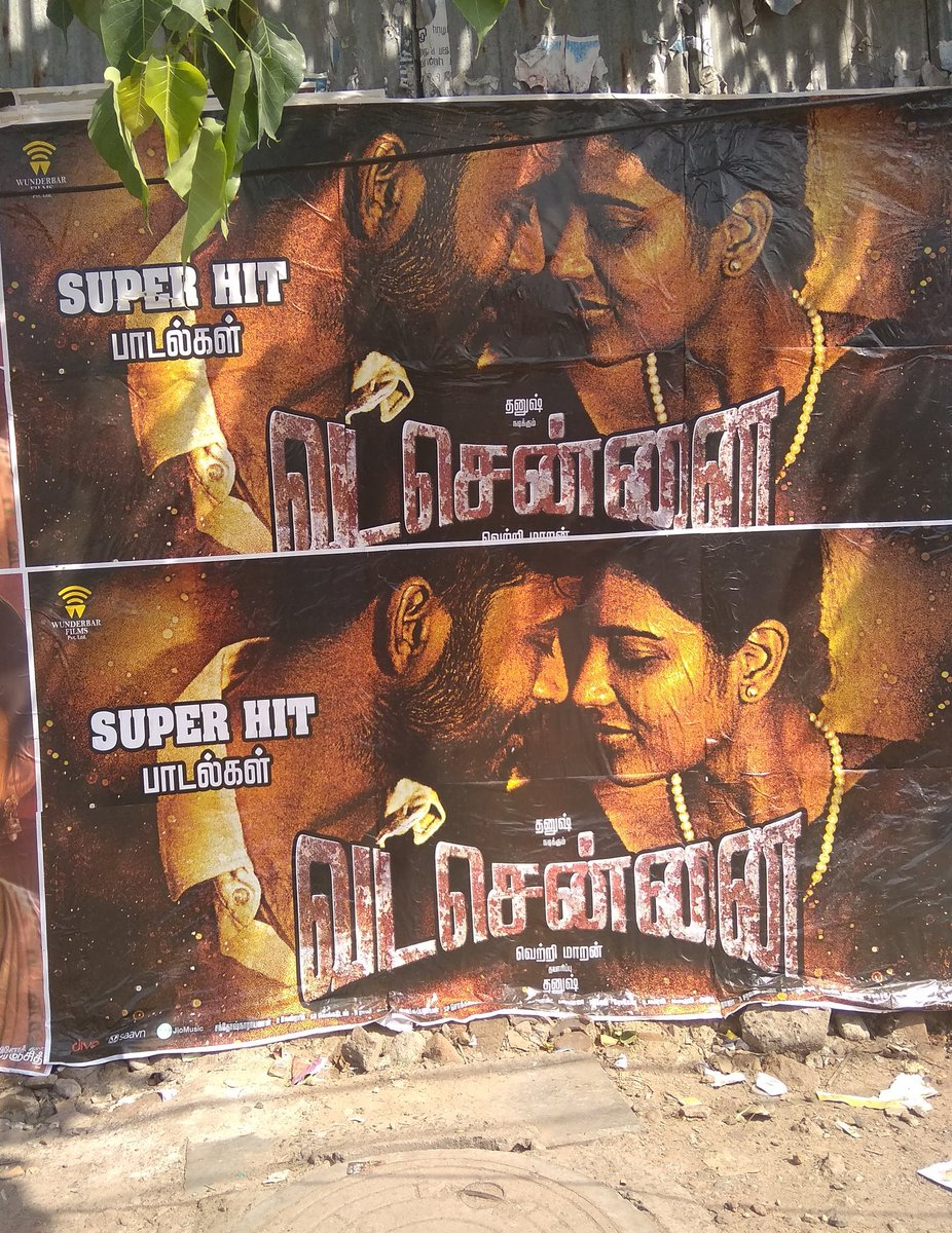 #VadaChennai posters around all over TN  &amp; a theater lists are coming soon ready to crop ur tickets   #Oct17<br>http://pic.twitter.com/JdWVWHalcb