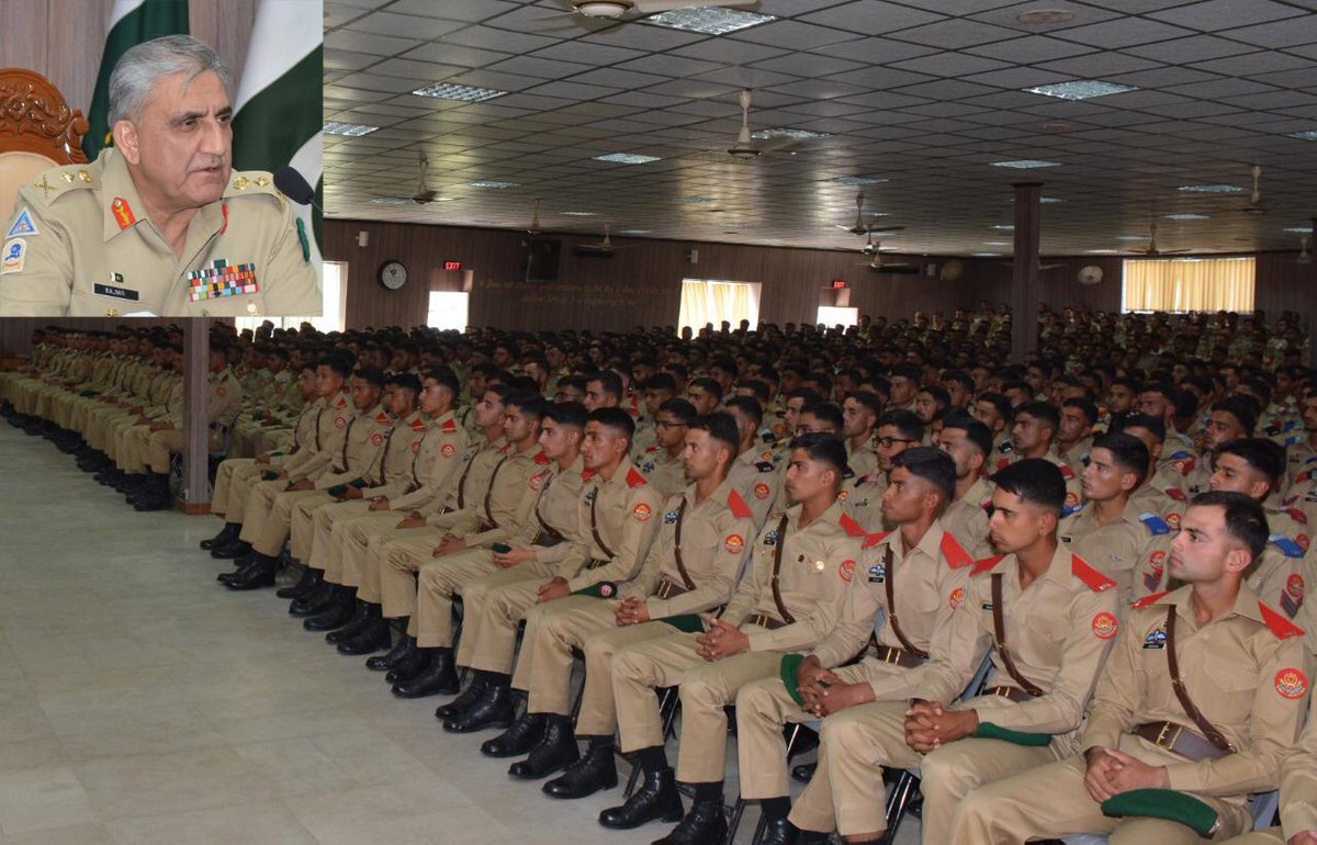 "Chief of Army Staff General Qamar Javed Bajwa has reminded the cadets of Pakistan Military Academy to follow the dictum, ""the honour and security of the country always comes first&quot;. He was talking to Faculty and Cadets during a visit to Pakistan Military Academy Kakul. <br>http://pic.twitter.com/O8OuWmbTX3"
