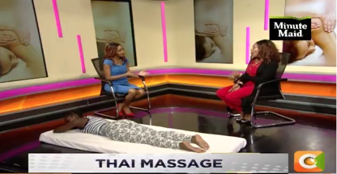 It is time to demonstrate the THAI massage with @Joey_Muthengi .   Send in your questions and comments using #DayBreak, SMS 22422 <br>http://pic.twitter.com/qGxf77XQio