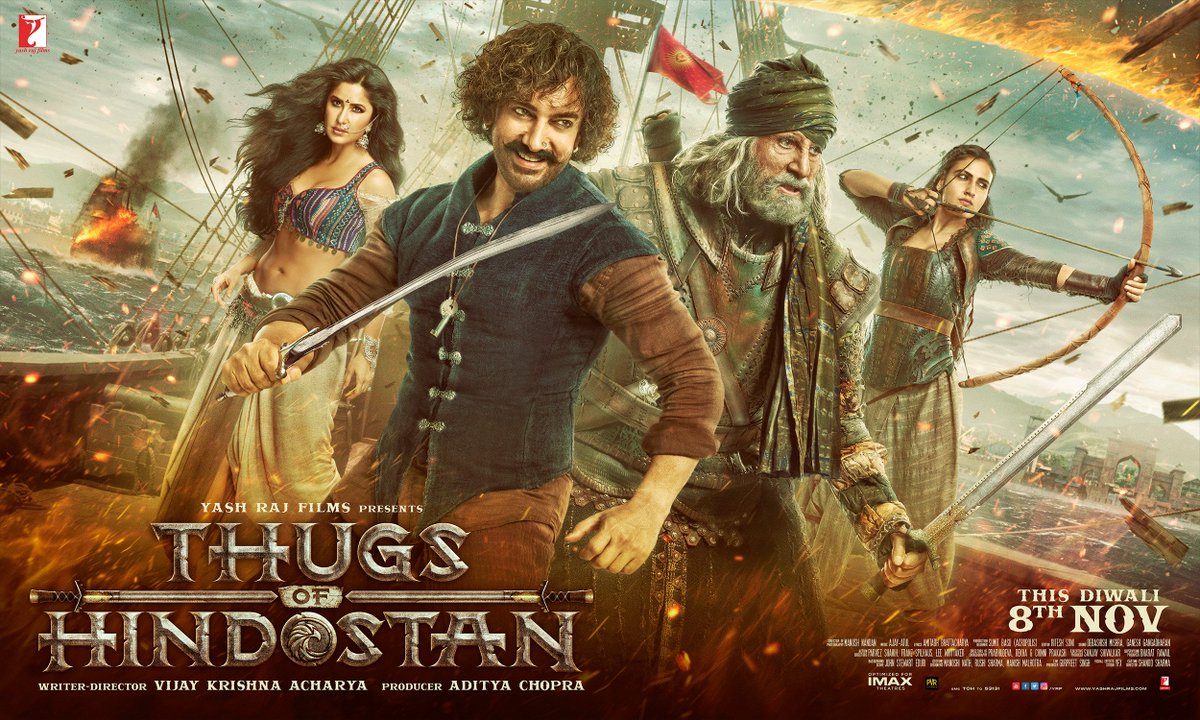 Aamir Khan, Amitabh Bachchan, Katrina Kaif and Sana Fatima Shaikh in Thugs of Hindostan