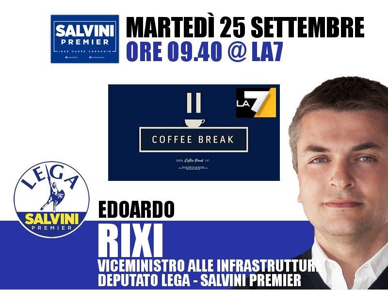 Buongiorno amici, alle 9.40 vi do appuntamento a #CoffeeBreak su #La7. Per chi volesse, potete seguirmi anche in streaming:  http:// www.la7.it/dirette-tv . Vi aspetto!  - Ukustom