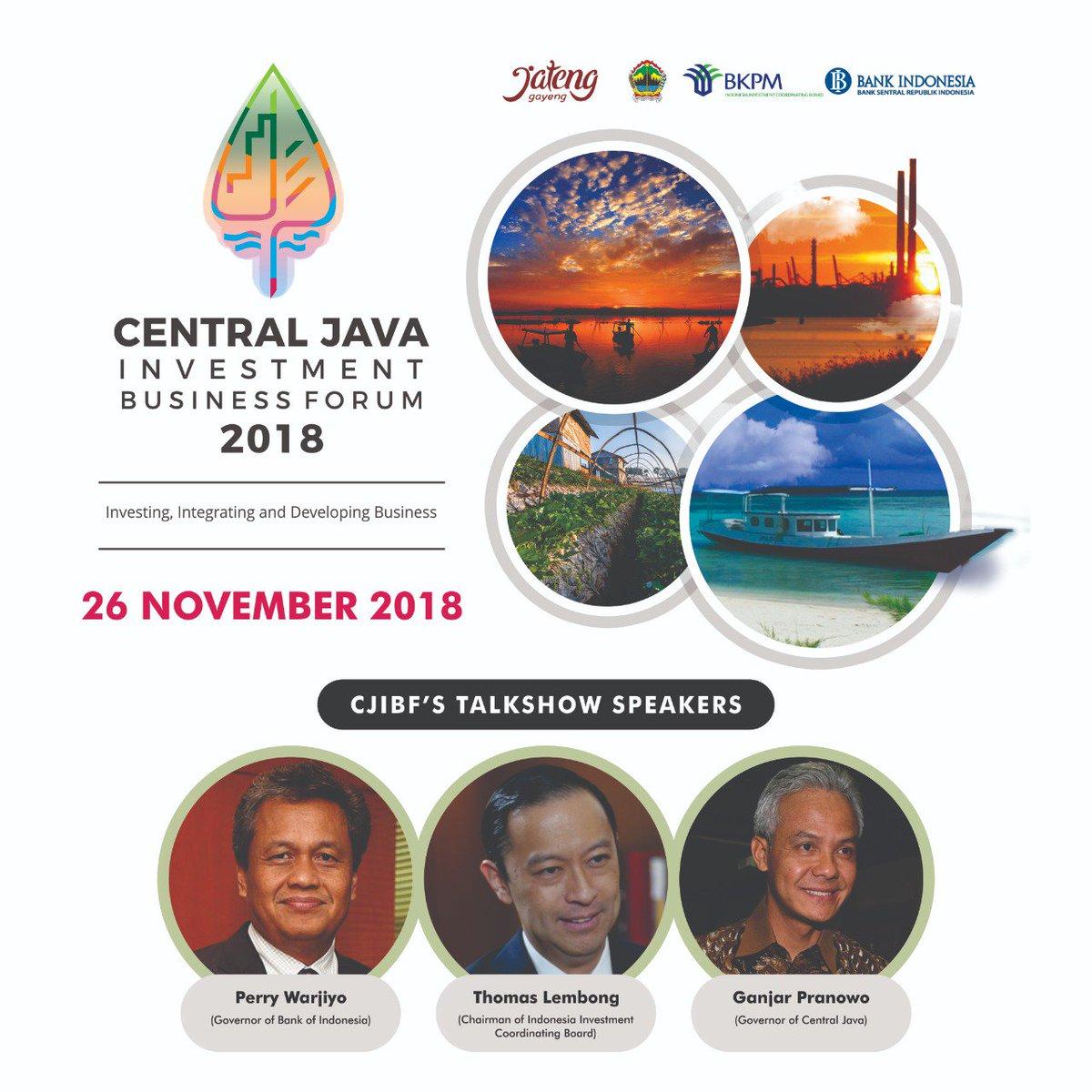 CJIBF ke XIV Tahun 2018 merupakan ajang promosi potensi  & peluang Investasi di Jawa Tengah. Penyelenggaraannya bertempat di Hotel Grand Sahid Jaya, Jakarta (26/11) @ganjarpranowo @bank_indonesia @bkpm @humasjateng @kominfo_jtg