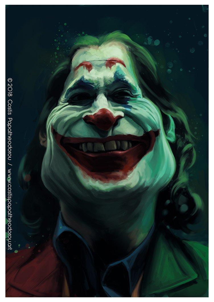 Caricature Of Joaquin Phoenix As Joker Dc Hollywood