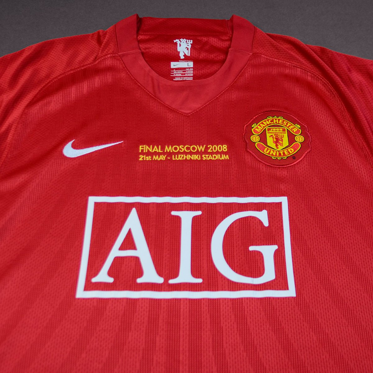 classic football shirts on twitter man united 2008 uefa champions league final shirt available now here https t co mygeqg3vn6 2008 uefa champions league final shirt