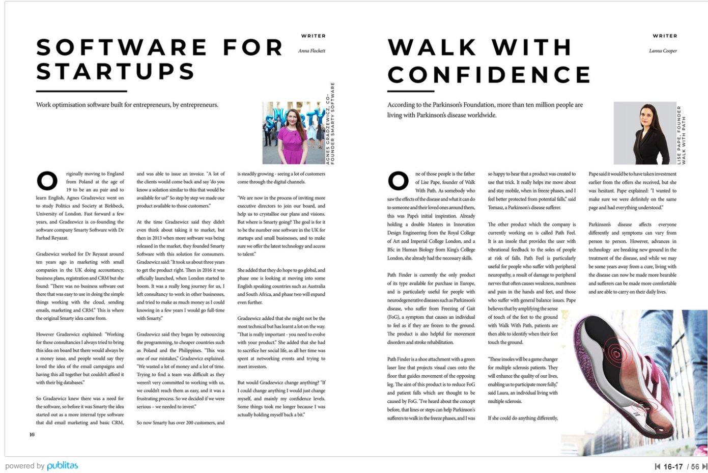 Agnes Gradzewicz Featured in The Start-ups Magazine