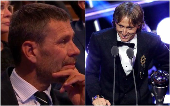 #Modric fa commuovere #Boban. Il croato  del #RealMadrid vince il The Best Fifa e lo dedica all\