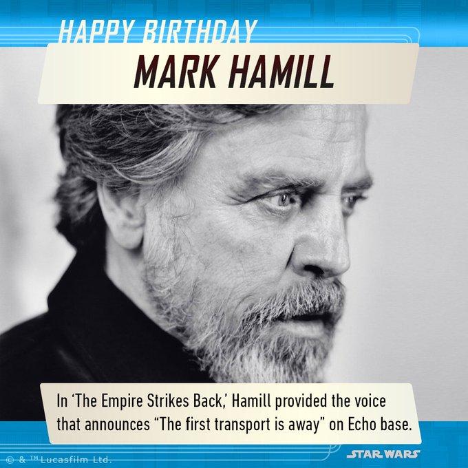 Wishing a Happy Birthday to the legend himself - Mark Hamill!