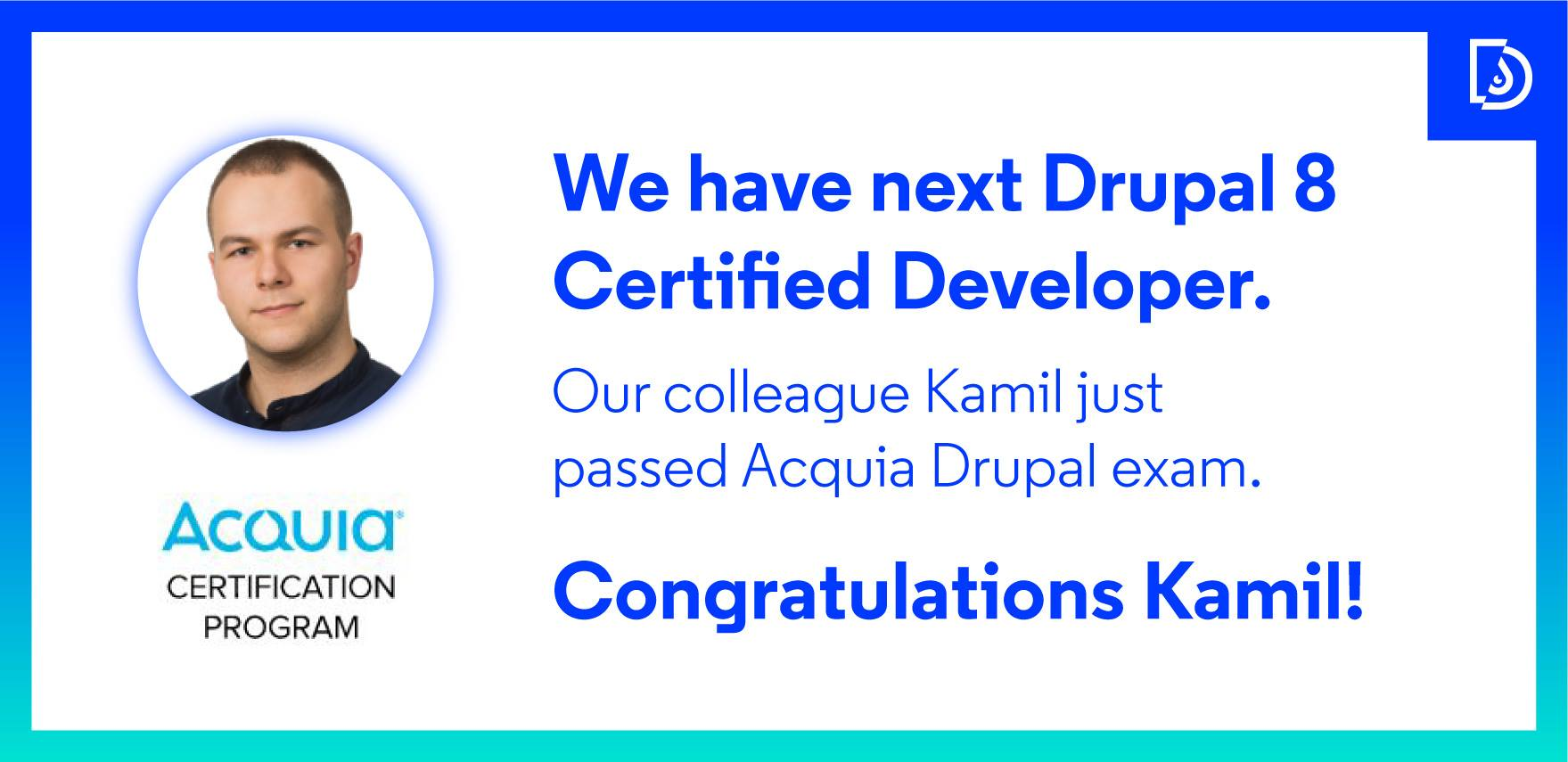 Droptica On Twitter Good News Another Acquia Drupal Exam Passed
