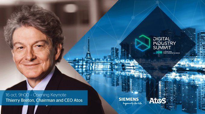 .@ThierryBreton will open the #DigitalIndustrySummit on October 16, at the Palais...