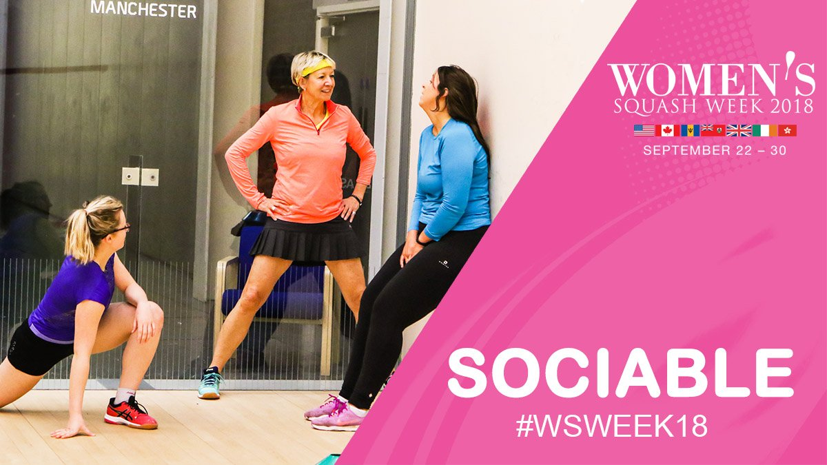 test Twitter Media - SOCIABLE: Getting together and having fun on court is what #squash is all about - you can make friends for life!  Start your squash journey now at 👉https://t.co/e0KrMeqFD3  #WSWeek18 https://t.co/MgmZLHPznx