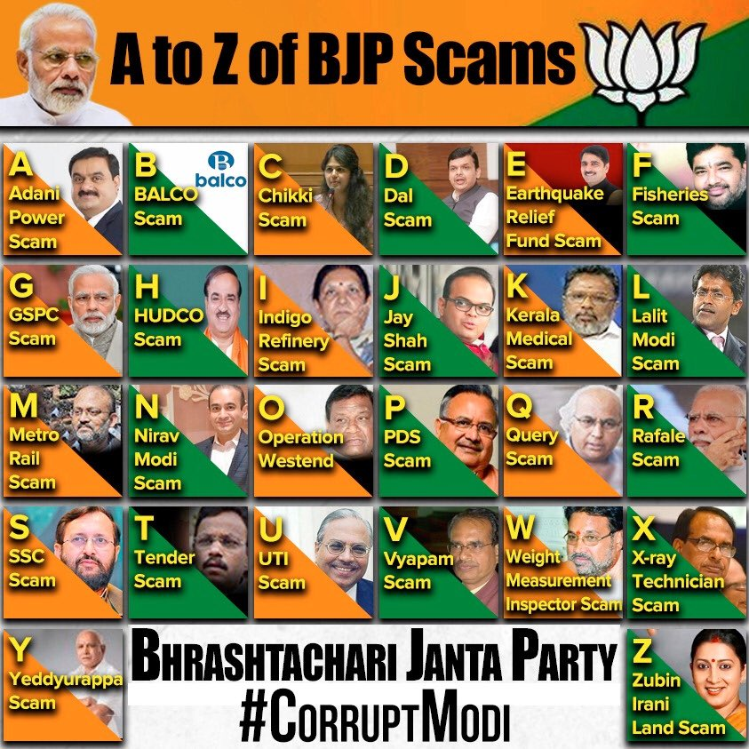 All the scams and corruption of Modi and his Govt right here #CorruptModi https://t.co/SzakB5DGpL https://t.co/0evJqBAJXn