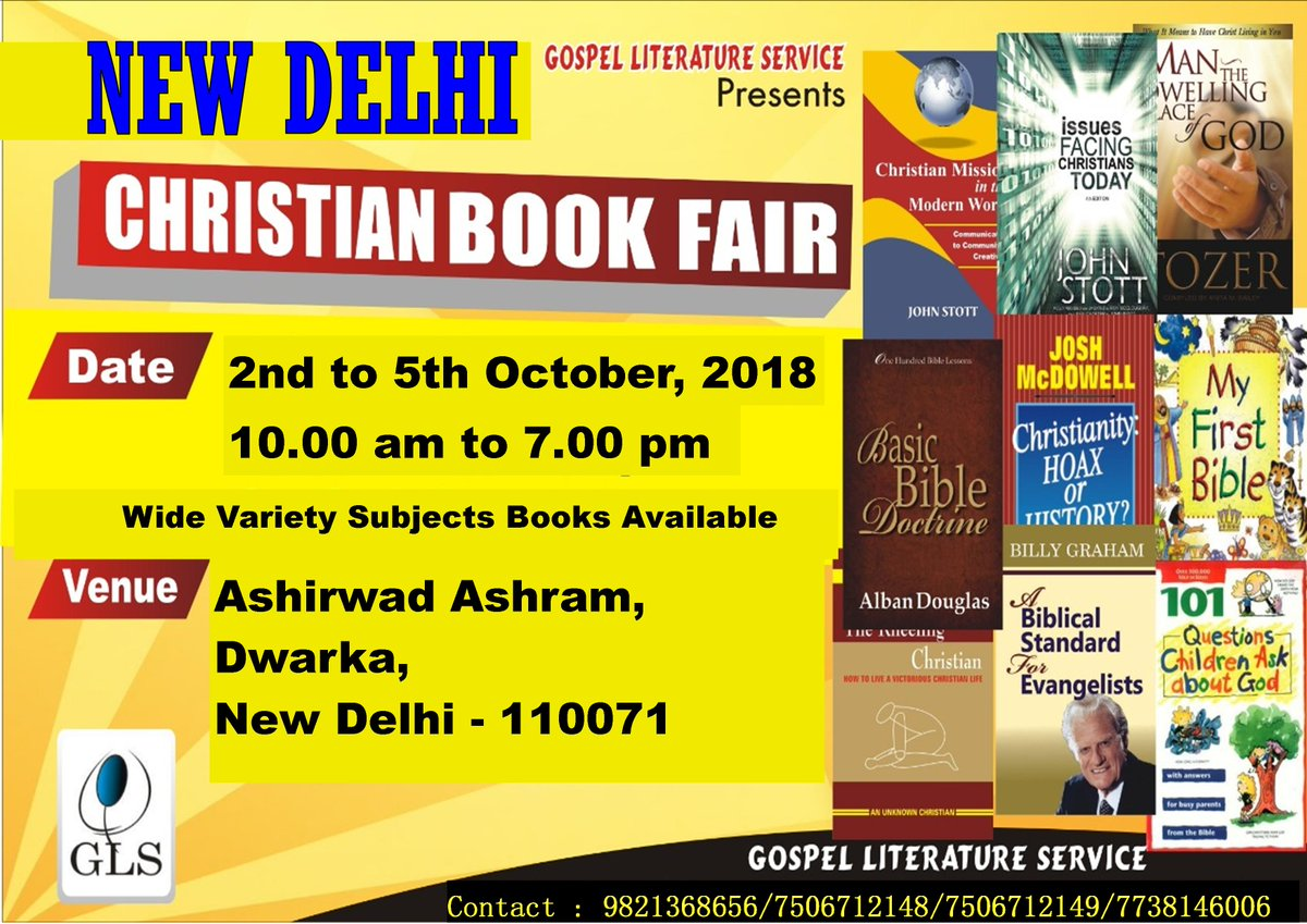 test Twitter Media - GLS organizes Christian Book Fair in New Delhi. https://t.co/3ToiRdVpc1