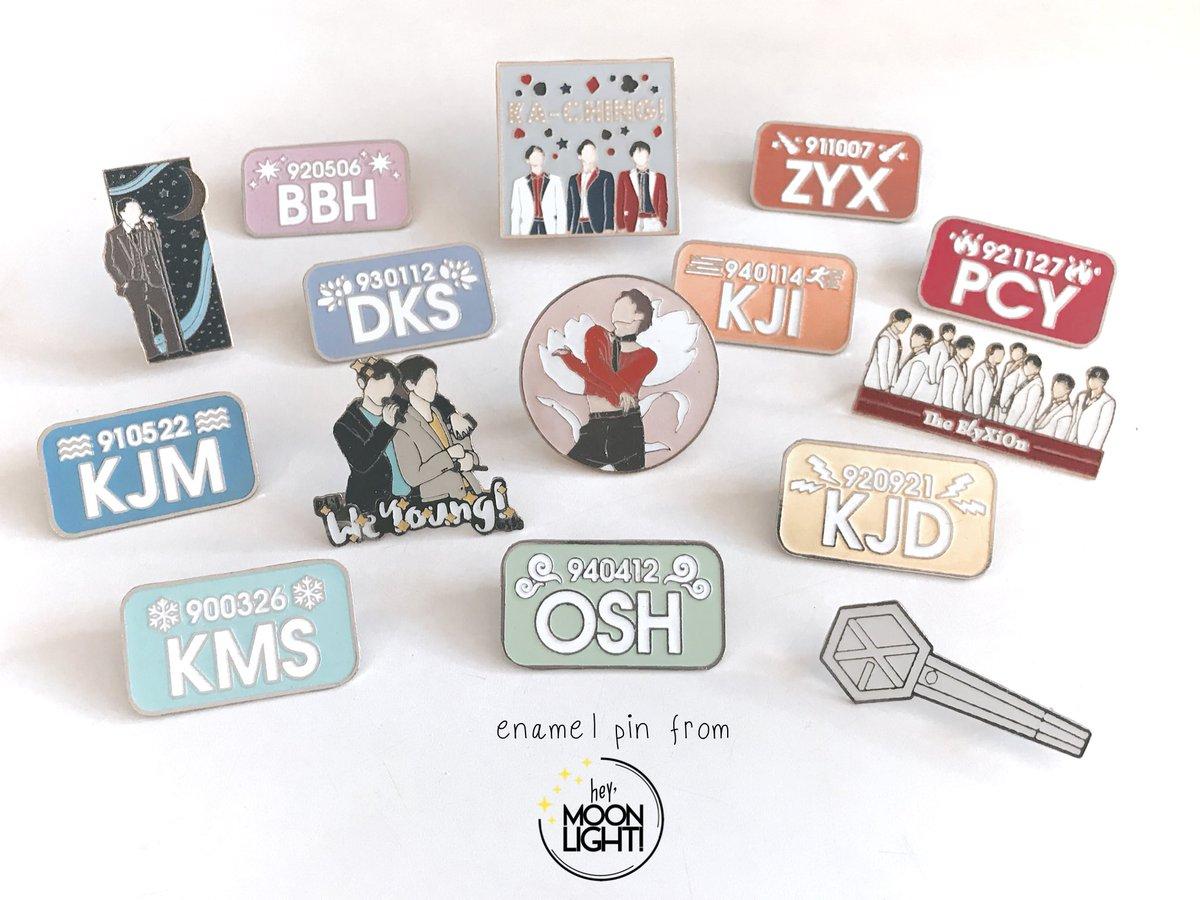 Open Reg Po Exo Enamel Pins Stickers By At Heymoonlightid