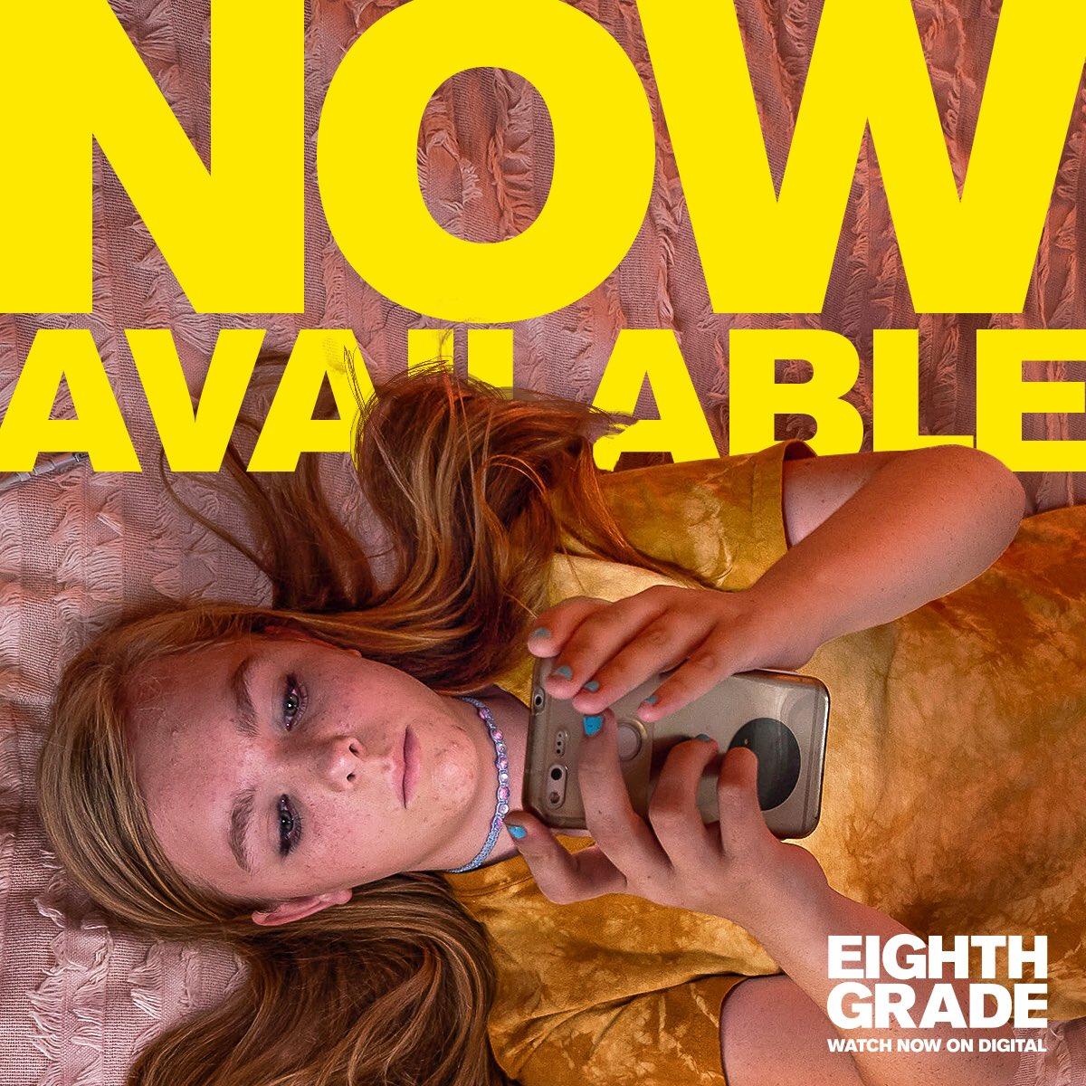 Hey hey hey hey. Hey. GUYS. Eighth grade is out digital right NOW! bit.ly/EighthGrade_Wa… please go watch it...
