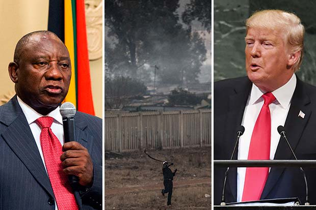 South Africa President in FURIOUS tirade at 'ill-informed' Donald Trump after white farmer tweet https://t.co/Y9MT9I8D7x