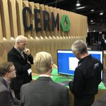 Image for the Tweet beginning: The @cerm_mis booth is completely