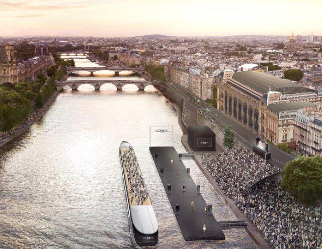 Paris : un podium flottant de 60m sur la Seine pour la Fashion Week https://t.co/PyX2nLilMy