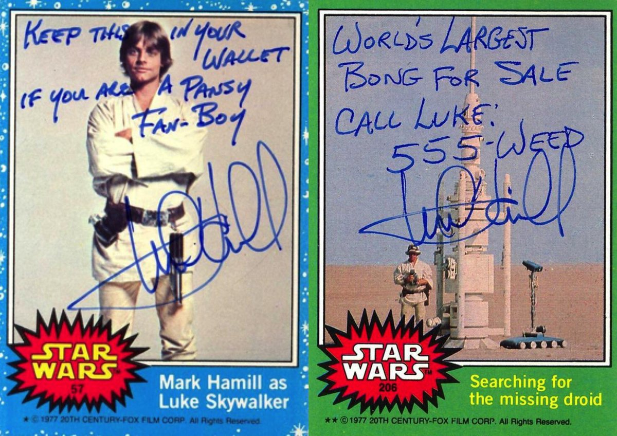 """""""Ive failed #StarWars trivia tests. People come up to me at conventions using terms Ive never heard of."""" Happy Birthday @HamillHimself! 2/5"""