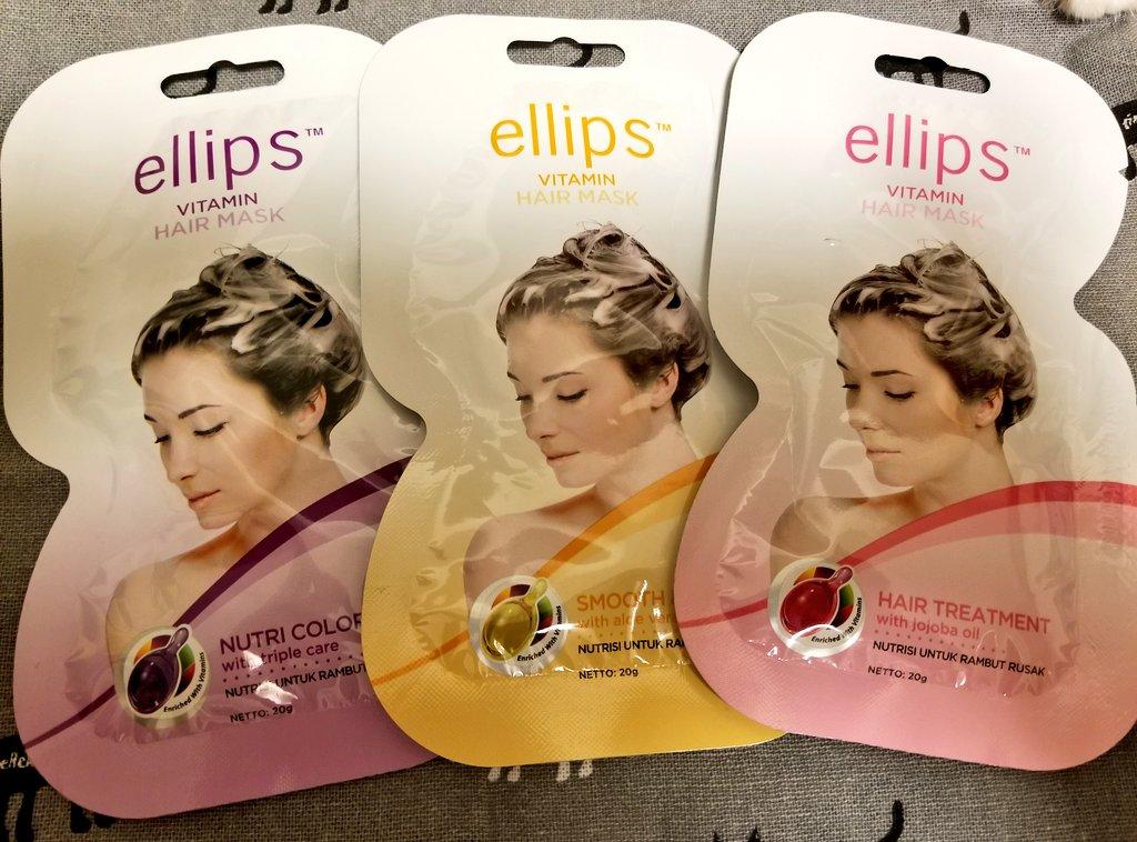 test ツイッターメディア - キャンドゥにエリップスのヘアマスク売ってたから買ってみた? 1回使い切りで、オイルと同じ香り? #キャンドゥ  #エリップス https://t.co/HwDj1MY2th