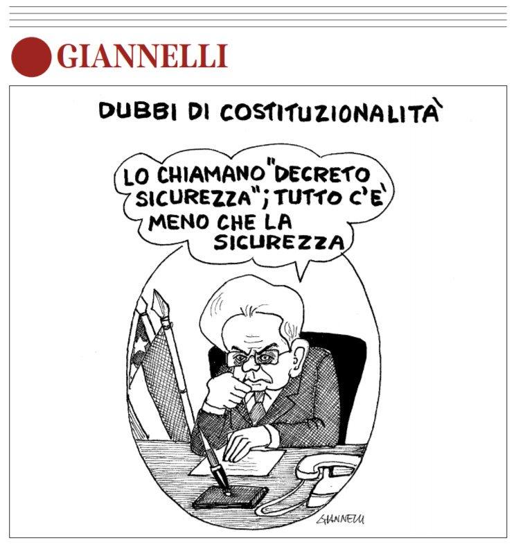Sicurezza?#Giannelli sul #CorrieredellaSera#DecretoSicurezza #Governo  - Ukustom