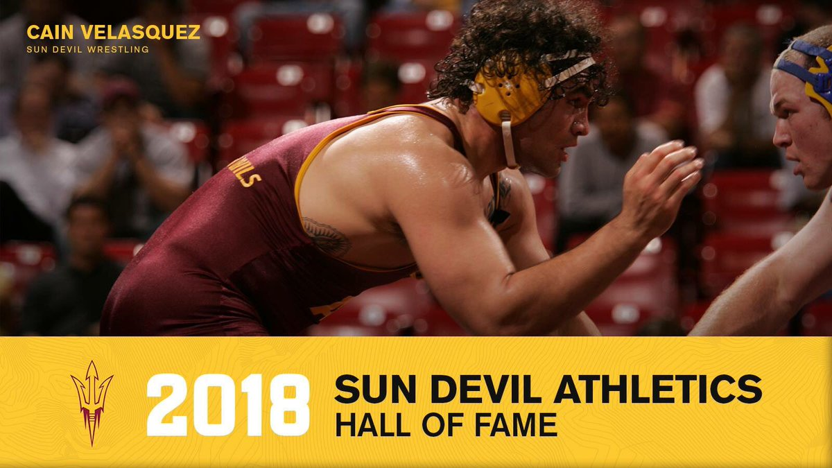 Dont delay, get your tickets now as Cain Velasquez is inducted into the Arizona State Sun Devils Hall of Fame on Friday, Sept. 28 and honored at the Oregon State football game on Saturday, Sept. 29! #SunDevilIntensity sundevilclub.com/hof