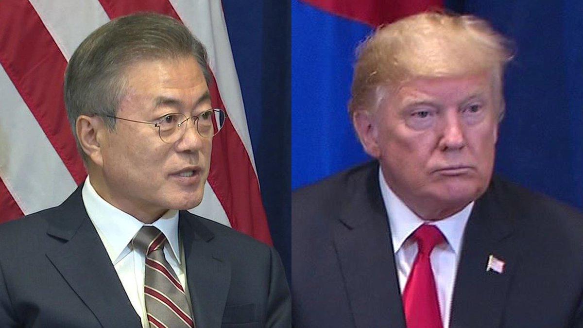 [JTBC 뉴스룸] 트럼프 '북·미 정상회담 곧 성사될 것'…일시와 장소 조만간 발표하겠다고 밝히며 '2차 핵 담판' 공식화. 청와대, 두 정상이 종전 선언에 대해 깊은 대화 나눴다고 전해. https://t.co/3opnagBO2F