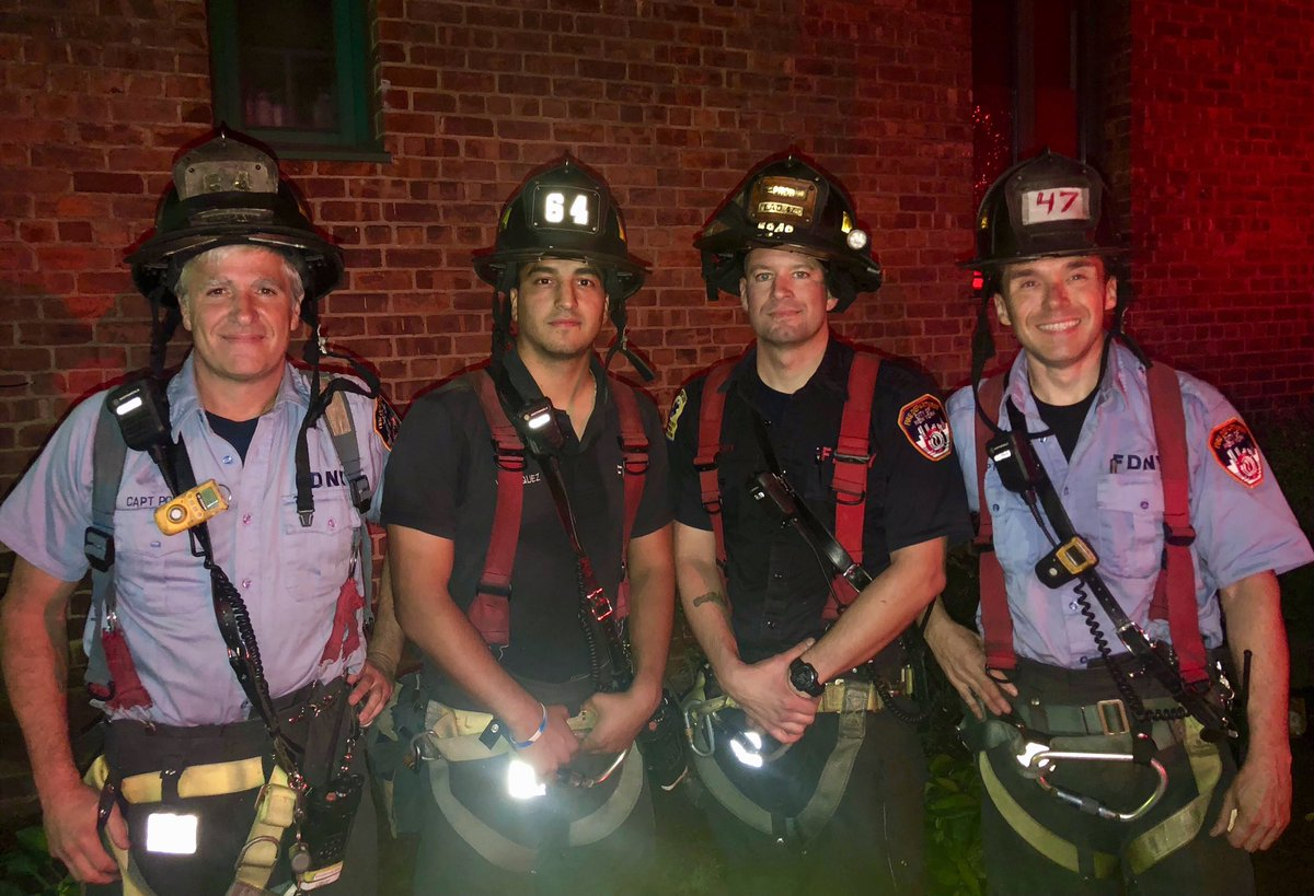 #FDNY members from #Engine64 and #Ladder47 rescued three individuals last night from an all-hands fire in the #Bronx. Read more: https://t.co/MeuQJWBcPc