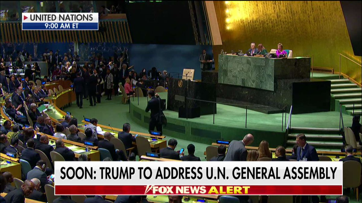 Soon: @POTUS to address #UNGA