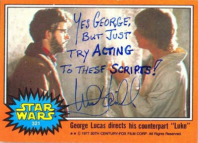 """""""I suspect if there were a way to make movies without actors, George Lucas would do it."""" Happy Birthday @HamillHimself! #StarWars 3/5"""