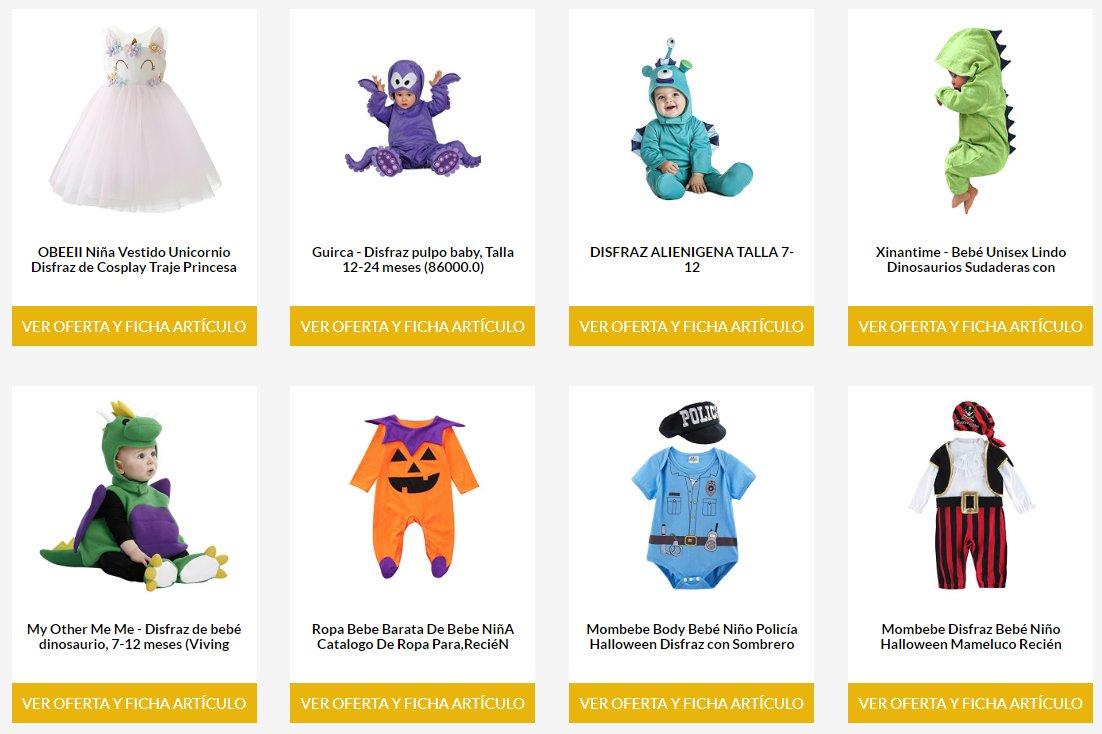 Disfraces Halloween 2020 para recién nacidos baratos
