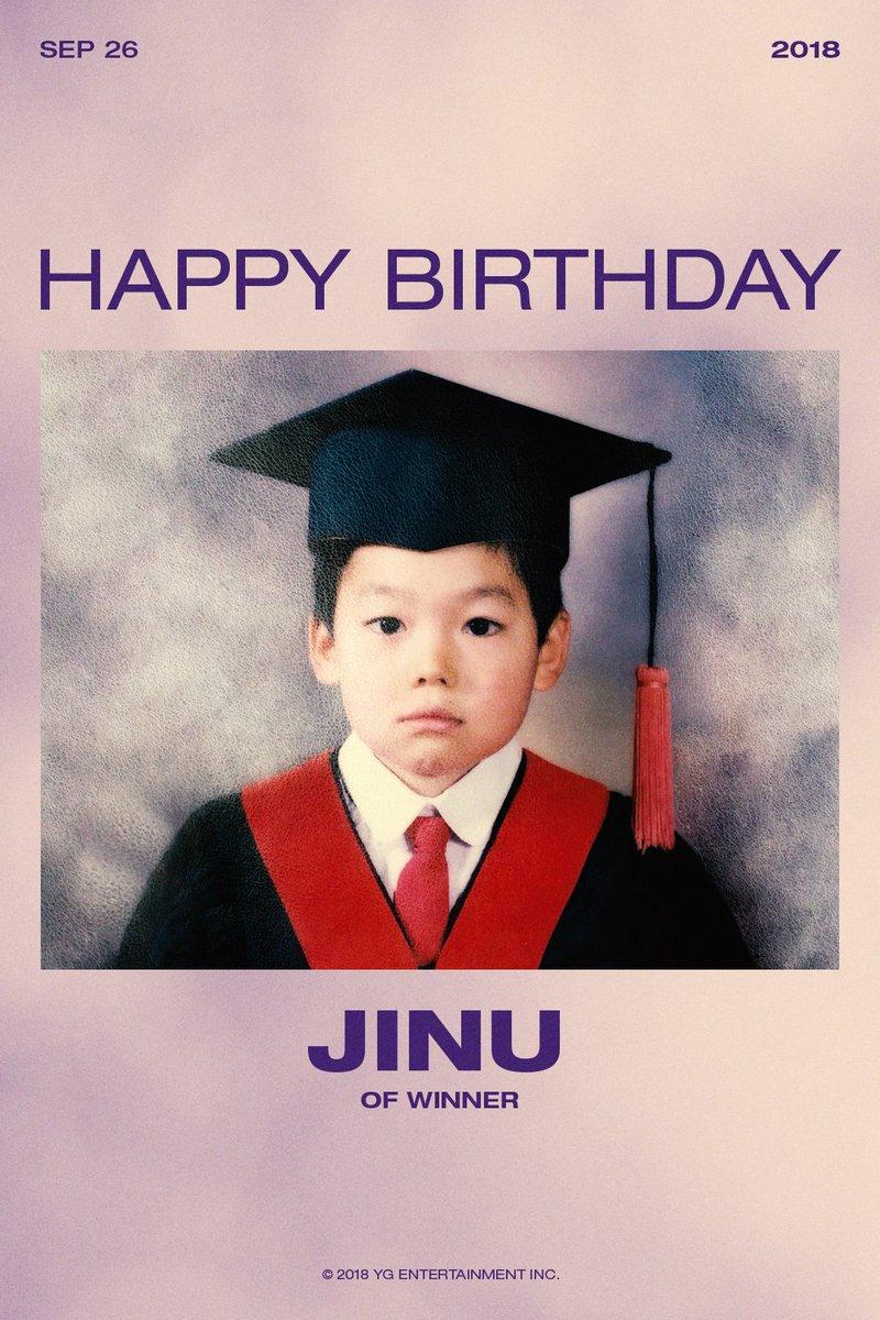 HAPPY BIRTHDAY JINU🎉  #WINNER #위너 #JINU #김진우 #지누 @official_jinu_ #HAPPYBIRTHDAY #20180926 #YG