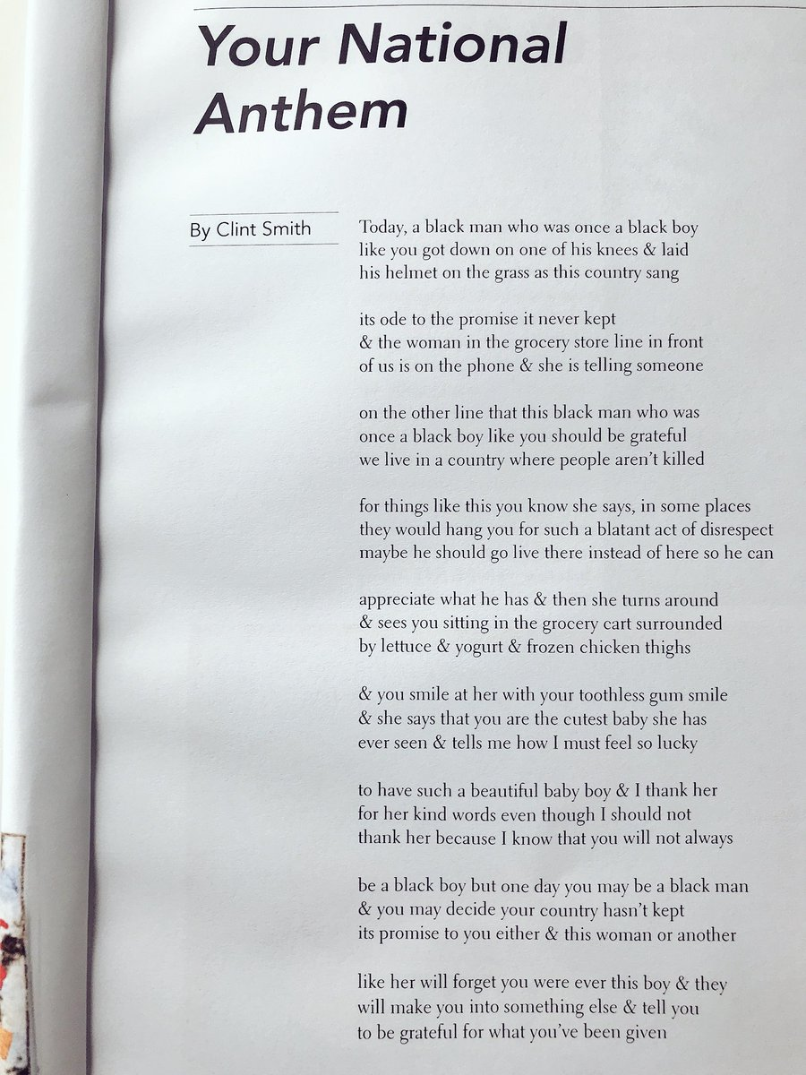 Clint Smith On Twitter I Have A New Poem In The Harvard Kennedy