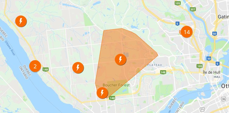 580 Cfra On Twitter 6470 Hydro Quebec Customers Are Without Power In The Aylmer Area In Addition To Another 2600 Elsewhere In The Outaouais The Big Outage In The Centre Is Estimated