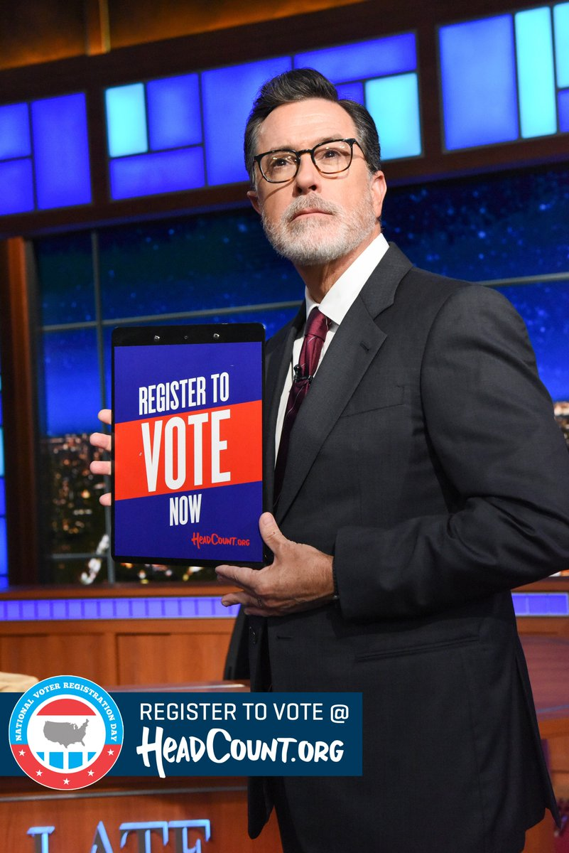 It's National Voter Registration Day! Sign up now with @HeadCountOrg, and win a chance to participate in American democracy! https://t.co/nYmNjTNXAX #TheFutureIsVoting