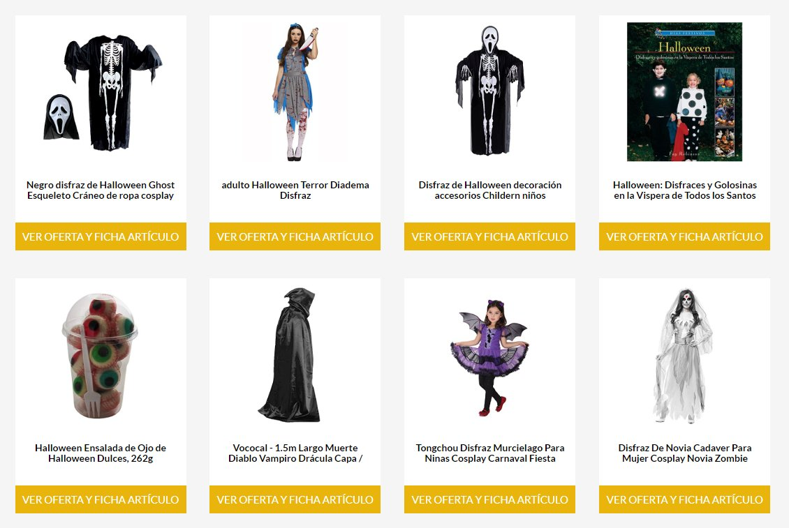 Disfraces para Halloween baratos 2018