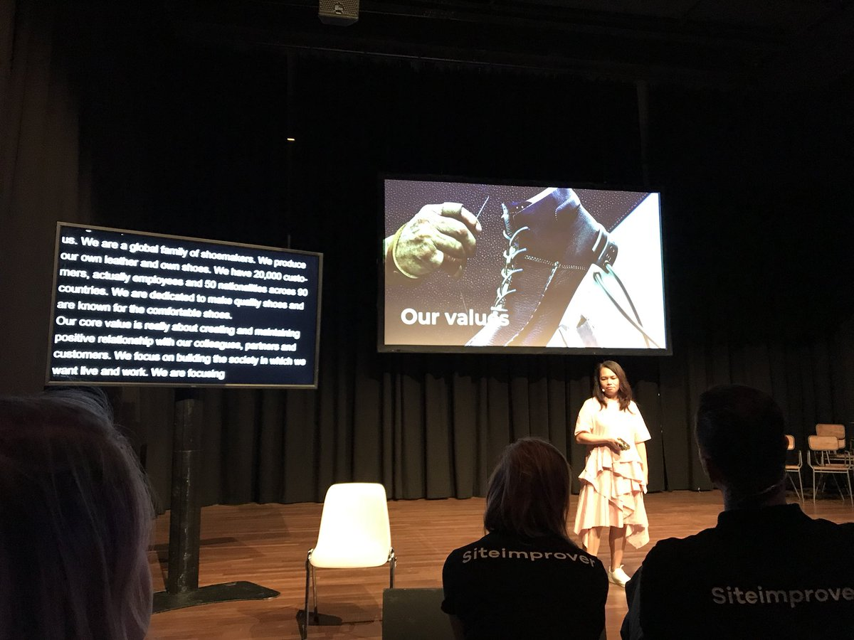 Watching a case study on how @ECCOshoes approaches web accessibility, by Siphrachanh Reyes, really awesome, #WAL2018AMS https://t.co/m6c8sk3Oyv