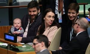 New Zealand prime minister Jacinda Ardern makes history with baby Neve at the UN general assembly. https://t.co/ZNCGSXKrJq