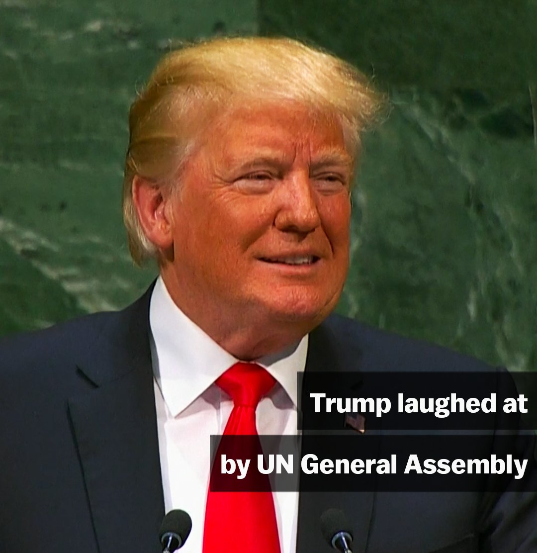UN audience literally bursts out laughing at Trump's speech