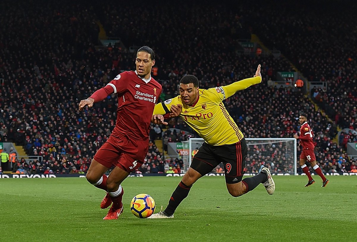 Hate him. Hes too big, too strong, too quick, too good on the ball, he loves fighting, good head of hair. And hes one of those guys who sprays on his top as well so he smells lovely. Troy Deeney on what its like to face Virgil van Dijk 👊😂