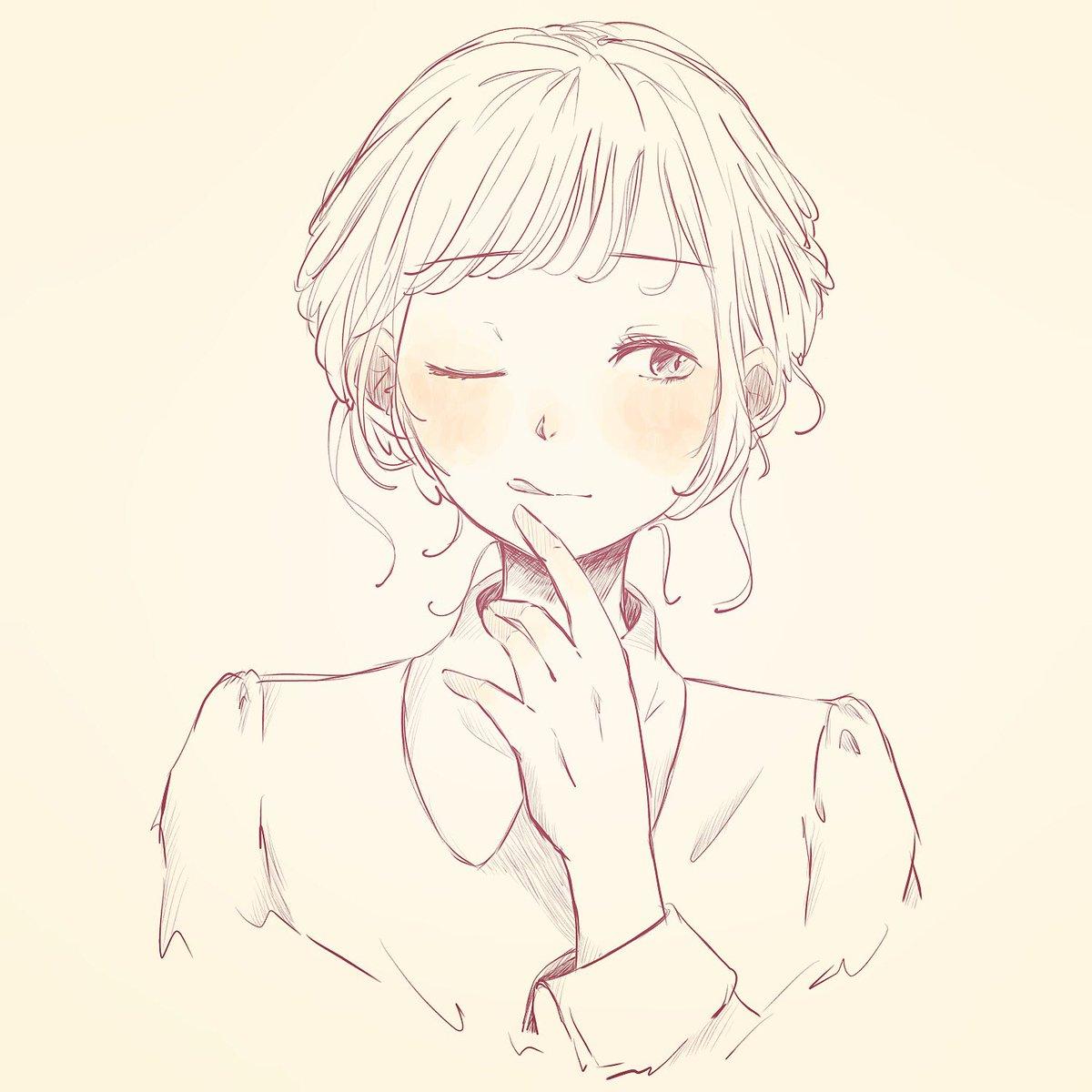 秋らしく 女の子 イラスト デジタル絵 デジタルイラスト アイビス
