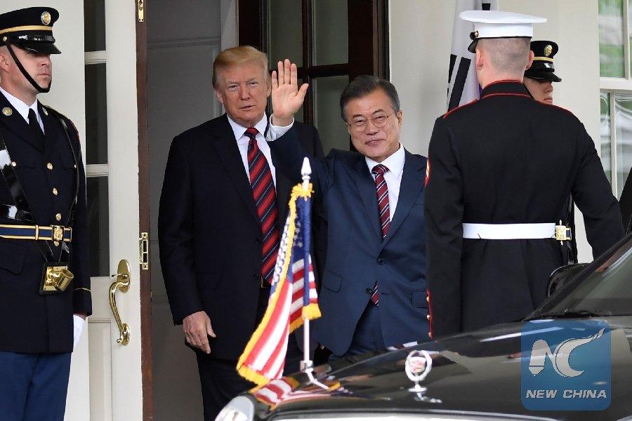 Trump, South Korea's Moon Jae-in agree to keep pressure o #DPRKn , discuss 2nd U.S.-DPRK summhttps://t.co/NQbfDSzPIlit