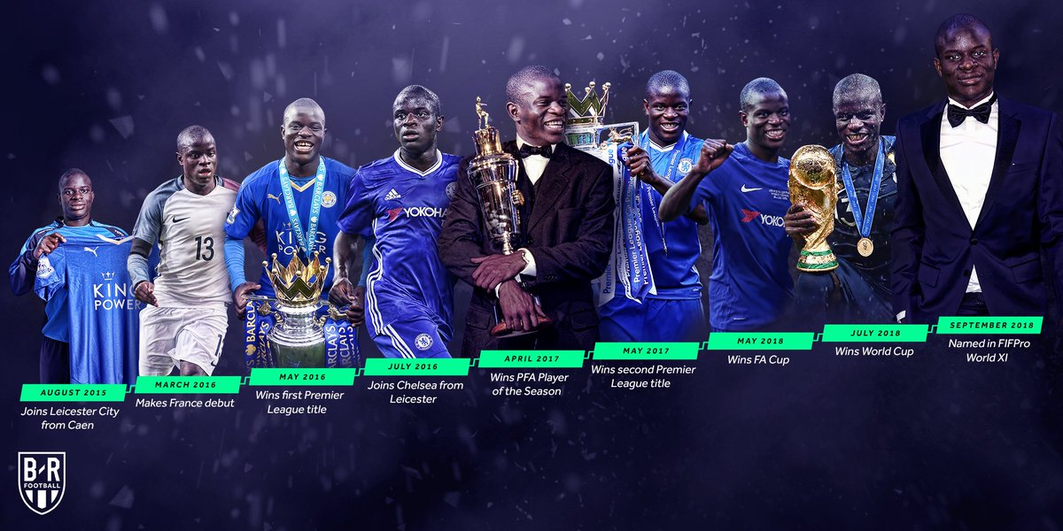 🏆 @nglkante's incredible story continues 📈