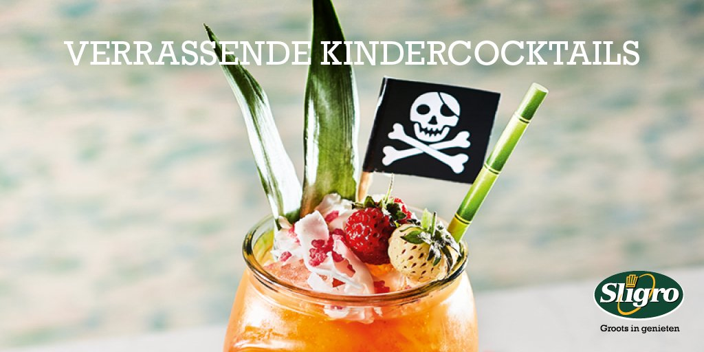 Sligro On Twitter Onderscheid Je Door Kindercocktails Op De Kaart