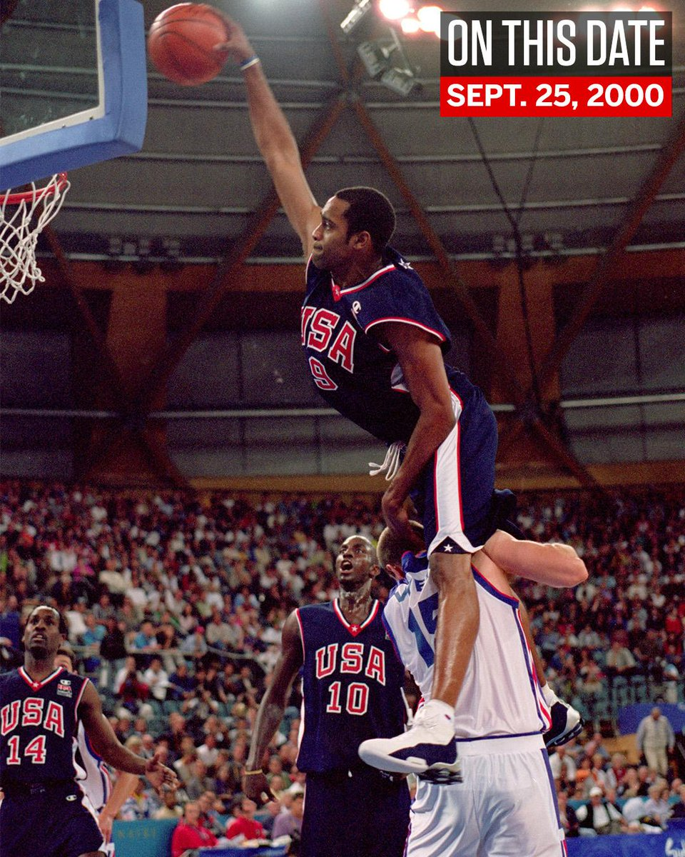 On This Date: 18 years ago, Vince Carter dunked over 7'2' Frederic Weis.