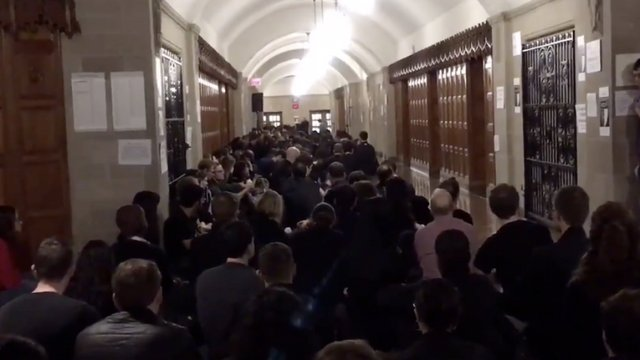 Yale Law students stage sit-in to demand Kavanaugh investigation https://t.co/aJlx1YIUkM