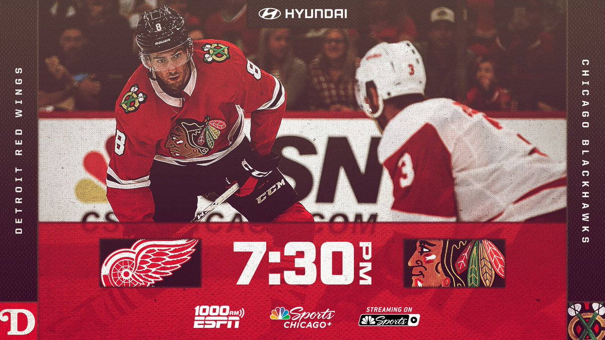 The day finally has come.  The #Blackhawks are back in action at the @UnitedCenter TONIGHT!   #CHIvsDET Preview: https://t.co/AOXaOz9Wcj