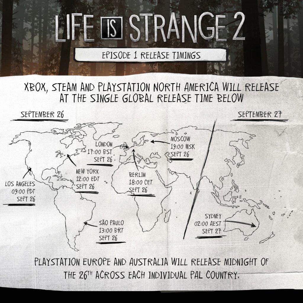 life is strange 2 lancamento horario