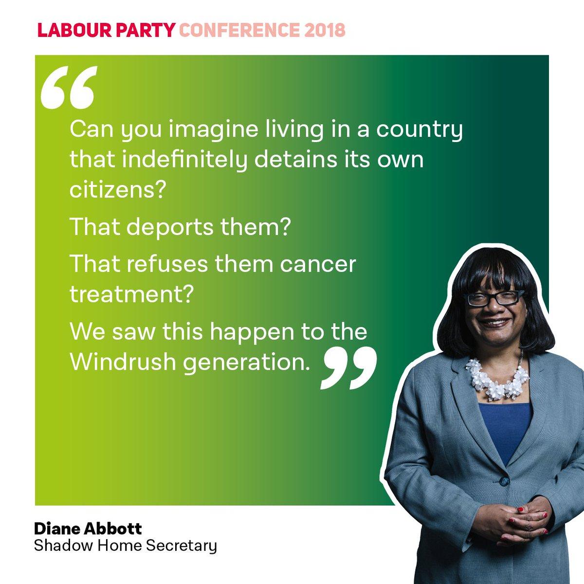 📣 The Tories' treatment of the Windrush Generation 👇 @HackneyAbbott #Lab18