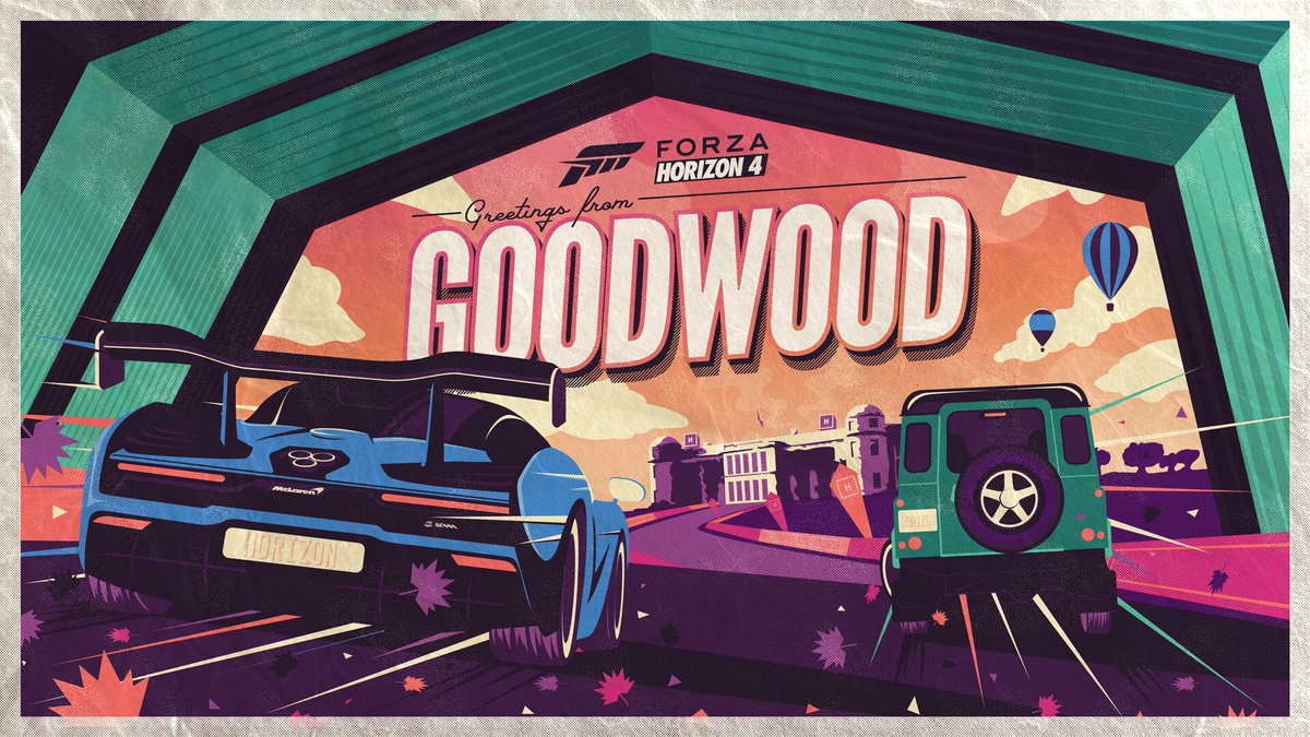Start your engines and get ready for a brilliant week of festive stunts and gorgeous cars ☀️ #FH4Goodwood  Read more ➡️ https://t.co/vj4yl7lqQ2 https://t.co/ZUlcYgGnzM